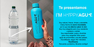 HappyAgua lanza botella reutilizable